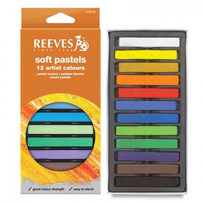 Set 12 pastel cretat uscat Reeves 0