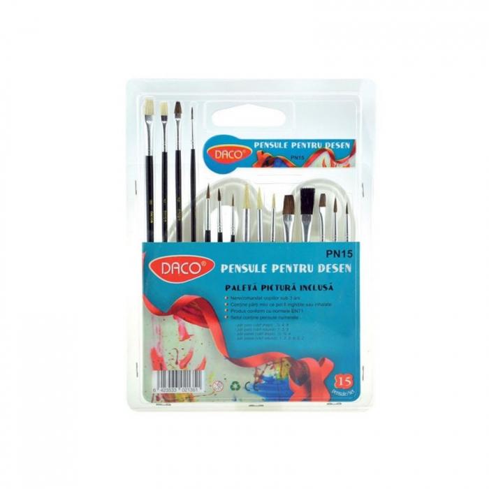 pensula-set-15-pe-paleta-ovala-din-plastic-PN15 0