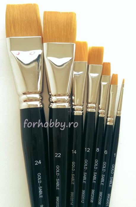 pensule-gold-sable-seria-9902-drept-par-sintetic-taklon 0