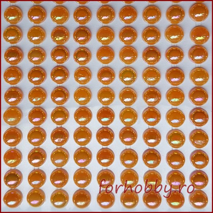 Perle jumatati 6mm - Portocaliu 0