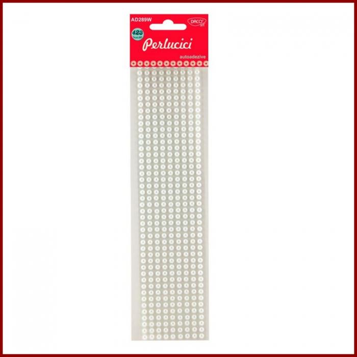Perlucici Daco - perle jumatati autoadezive 5 mm 0
