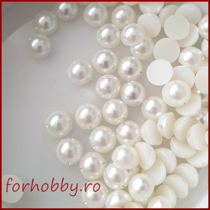 Perle jumatati gaurite 8 mm - Ivoriu 0