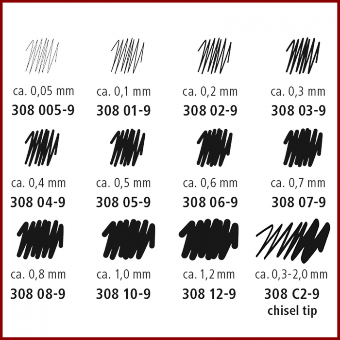 Pigment liner Staedtler 308 negru 2