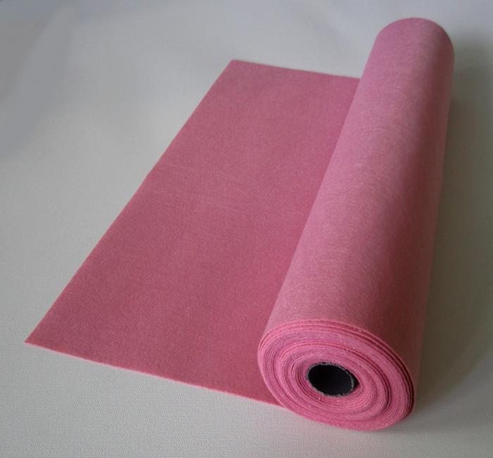 Rola fetru pink deschis 1mm grosime 0