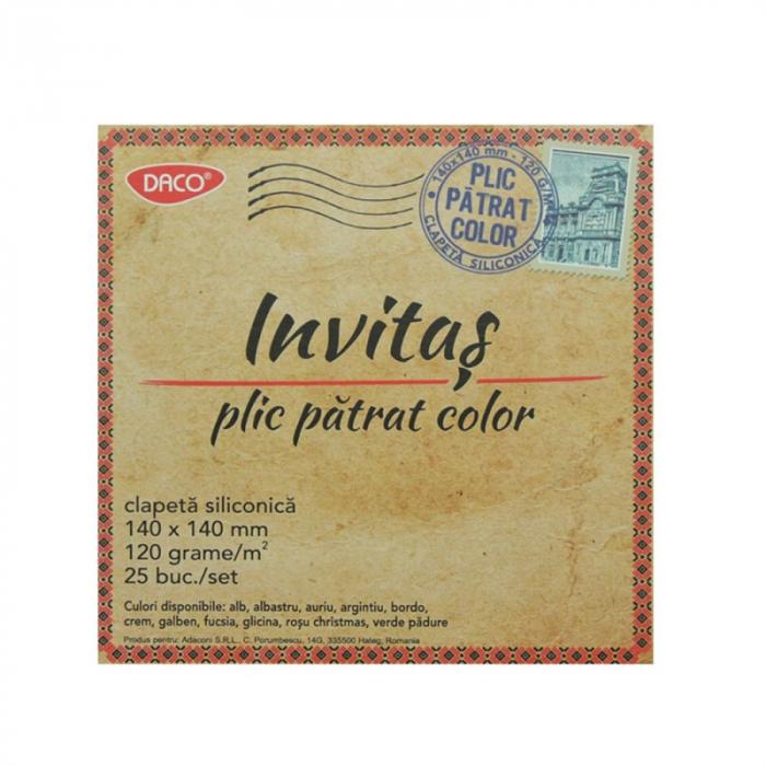 Plicuri colorate 14 x 14 cm 1