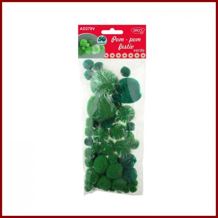 Pompoane plusate festiv- Verde 0