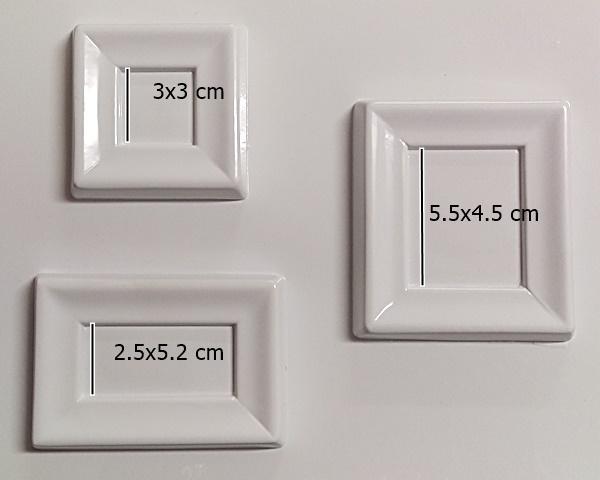 Matrita pentru-turnat - Rame dreptunghiulare mici 1