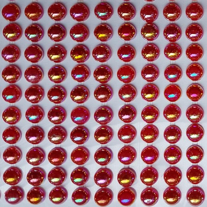 Perle jumatati 6mm - Rosu 0