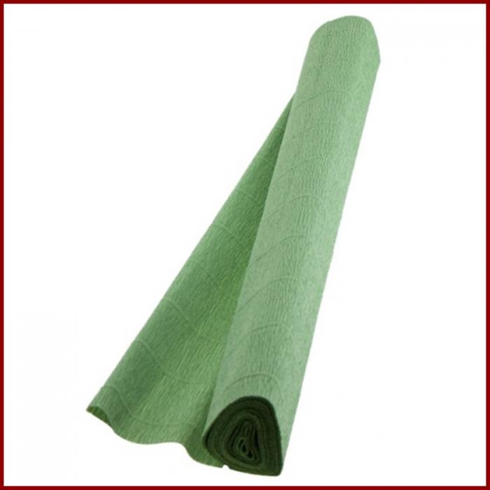 Hartie creponata floristica 180 g 50x250 cm- Verde olive 0