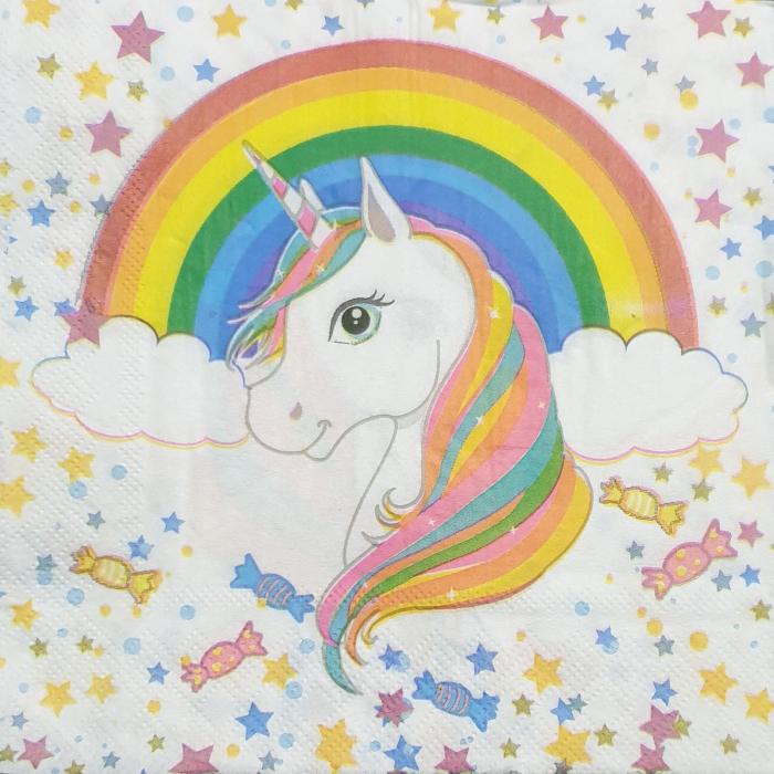 servetel-pentru-tehnica-decoupage-unicorn 0