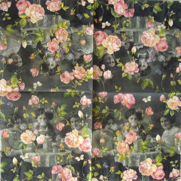 Servetel floral vintage 1