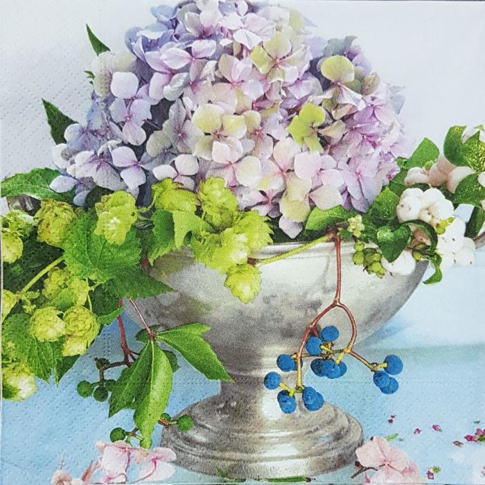 Servetel decorativ  Hortensii 0