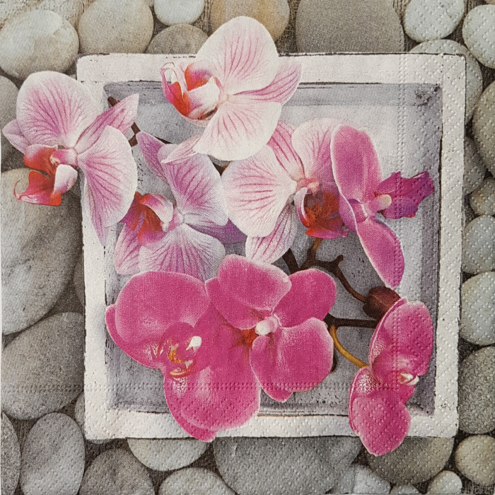Servetel decorativ orchidee 0