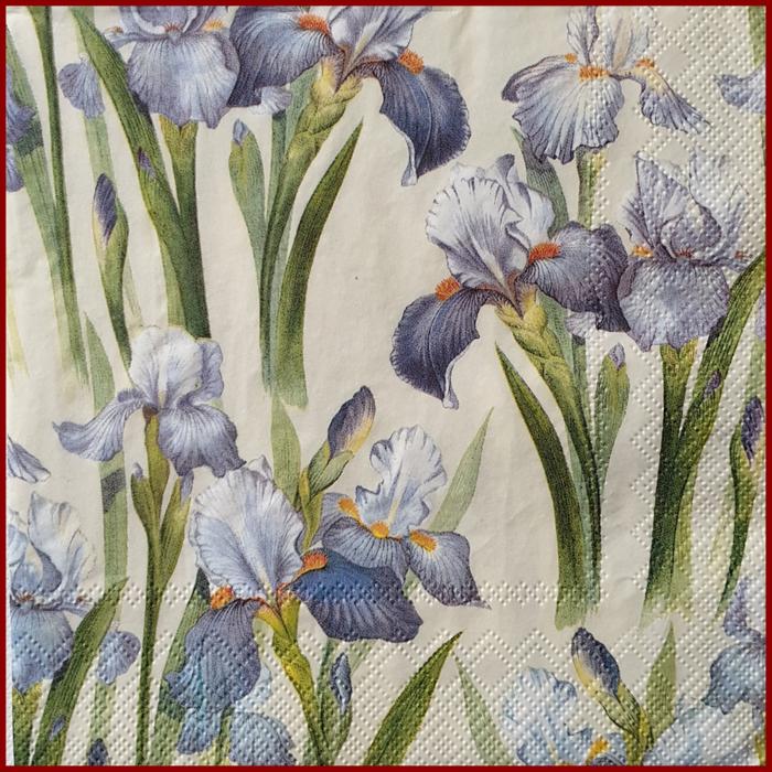 servetel-decorativ-floral-33x33-iris 0