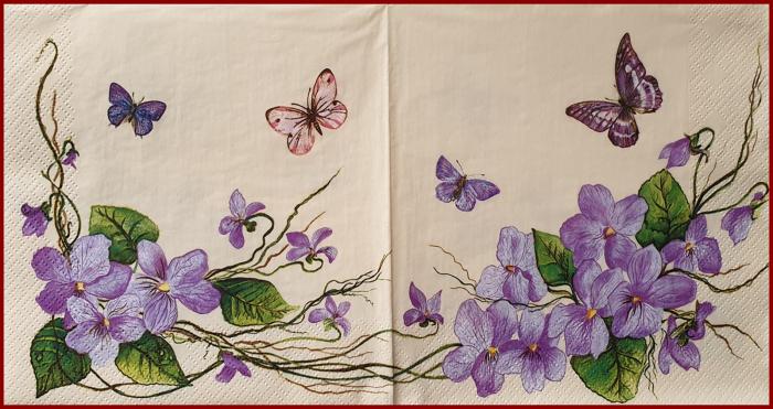 servetel-decorativ-33x33cm-viorele 1