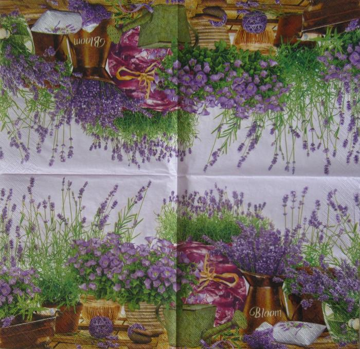 Servetel decorativ Maki - Lavanda 1