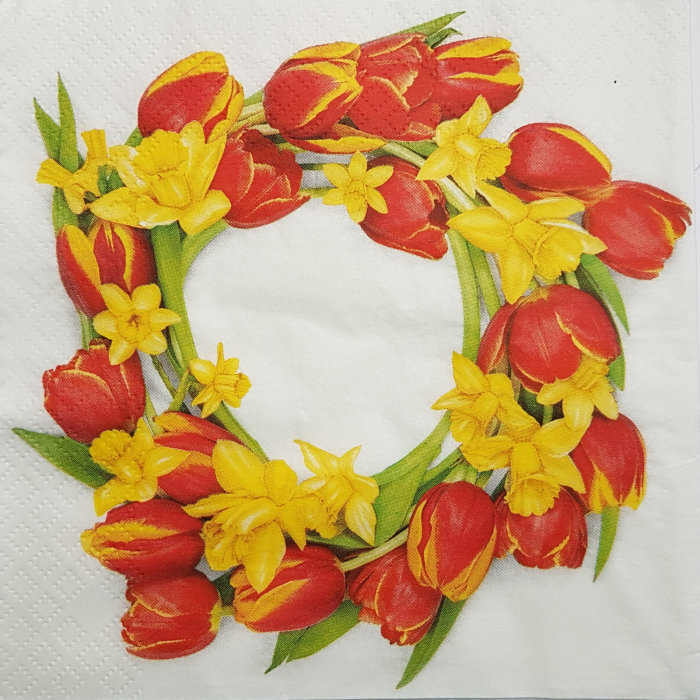 Servetel decora flori de primavara 0