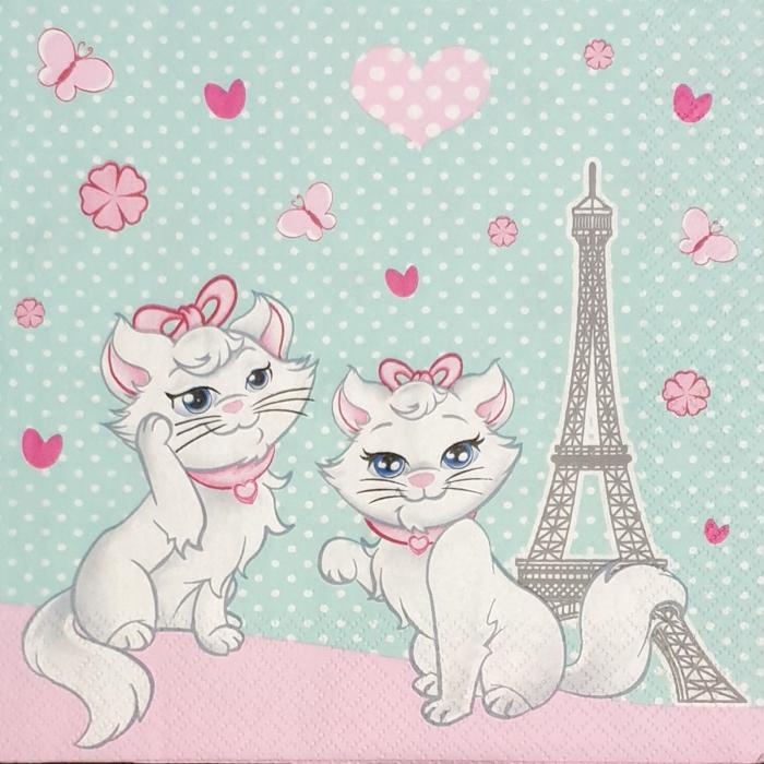 servetel-pentru-decoupage-33x33cm-pisici-aristocrate-daisy 0