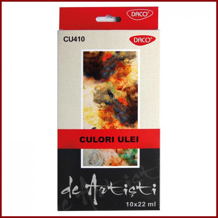 Set 10 culori ulei pt artisti Daco 0