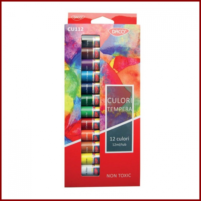 Set 12 culori tempera Daco 0