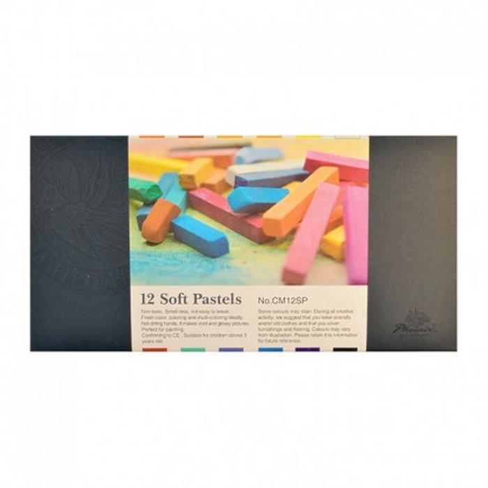 Set  12 pastel cretat moale Phoenix 0