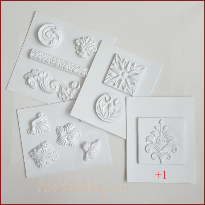 Set 4+1 matrite pentru turnat  - Ornamente 0