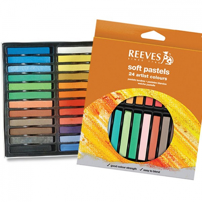 Set 24 pastel cretat uscat Reeves 0
