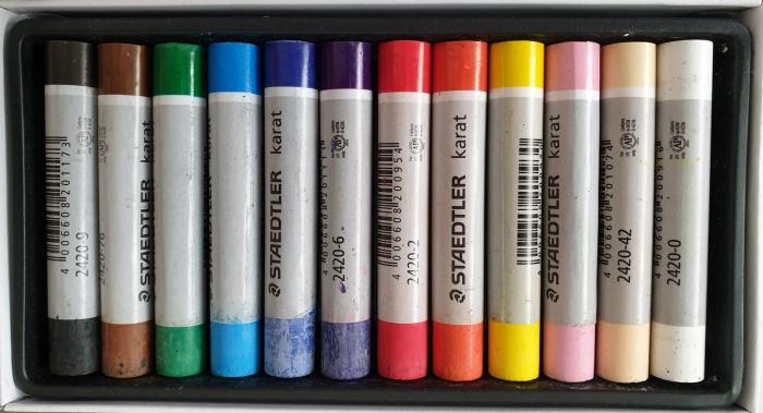 Set creta pastel uleios 12 culori Staedtler 1