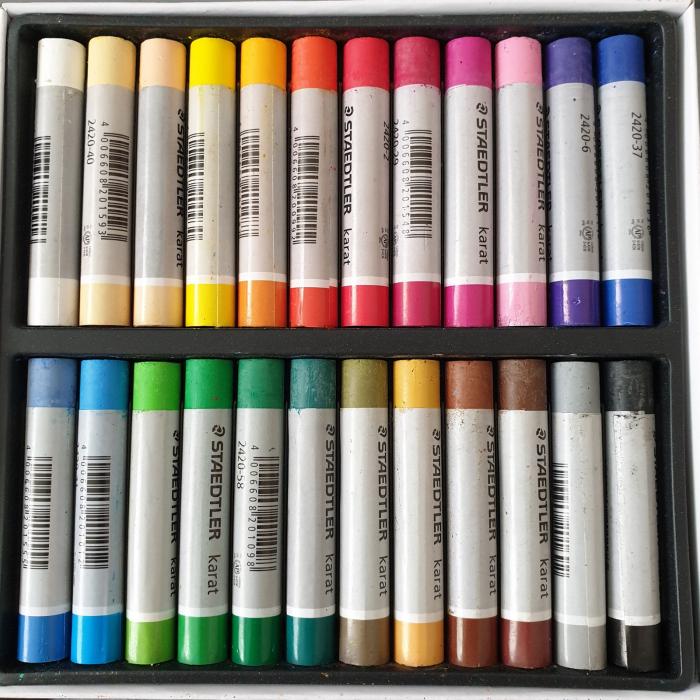 Set creta pastel uleios 24 culori Staedtler 1
