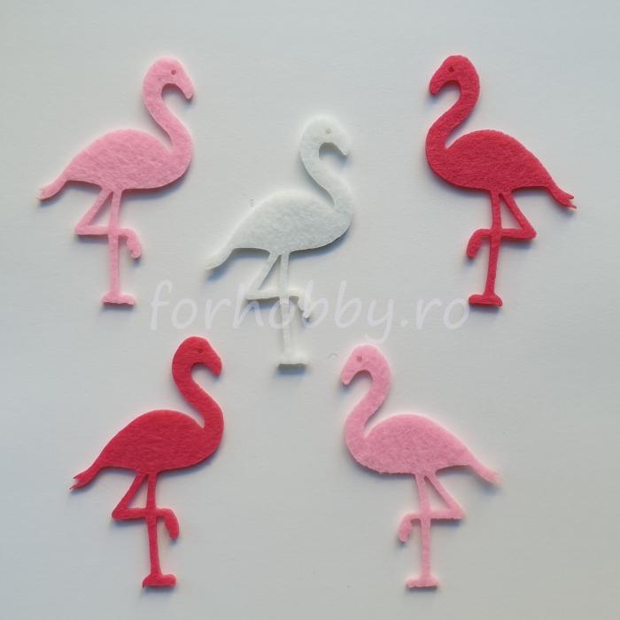 set-figurine-din-fetru-flamingo-pentart 0