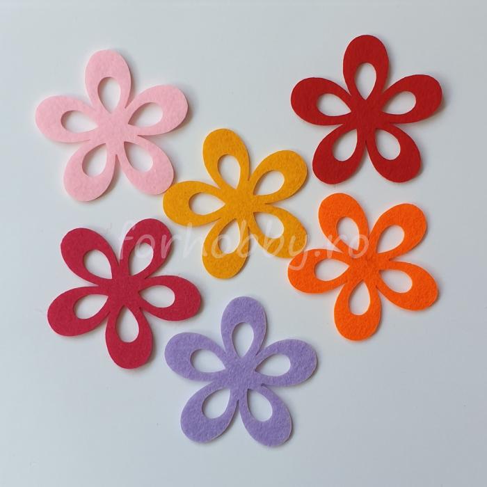 set-figurine-din-fetru-flori-pentart 0