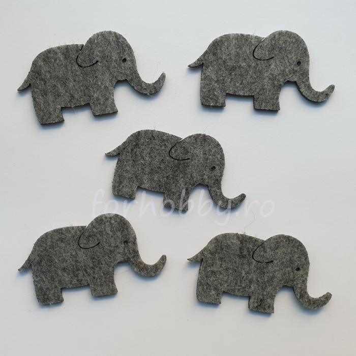 set-figurine-din-fetru-elefanti-pentart 0