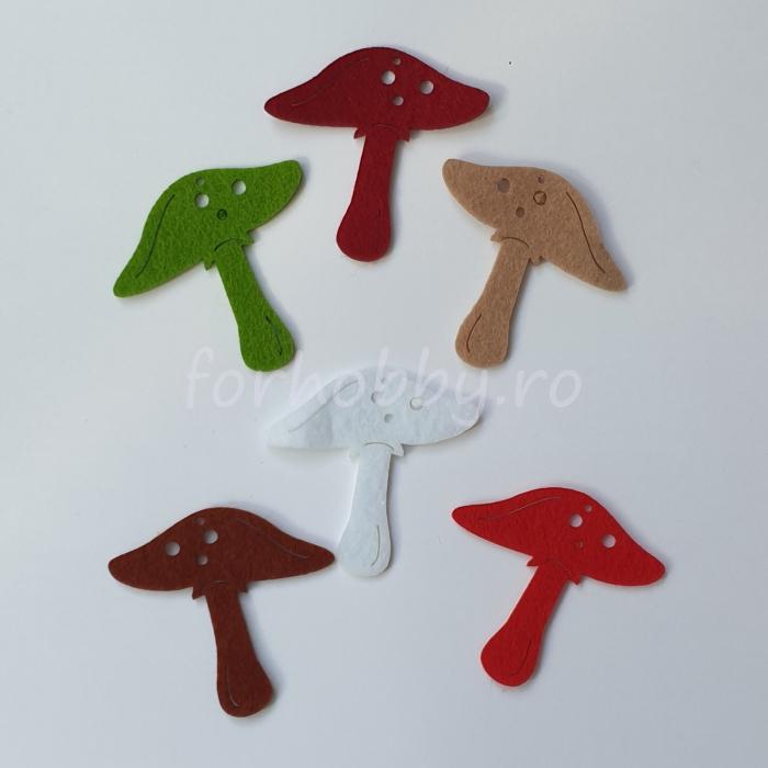 set-figurine-din-fetru-ciuperci-pentart 0