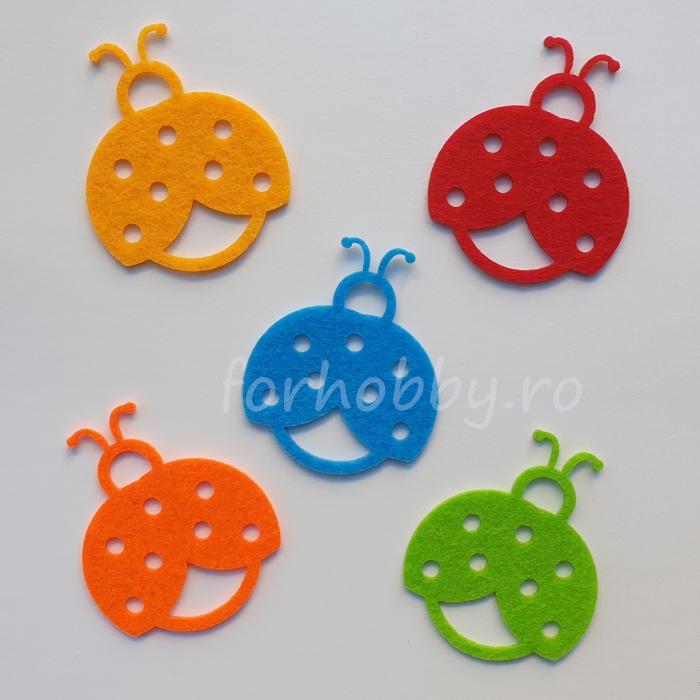 set-figurine-din-fetru-buburuze-colorate-pentart 0