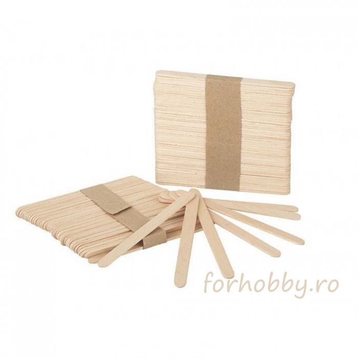 Set spatule lemn 11.2 x 1 x 0.2 cm (50 buc/set) 0