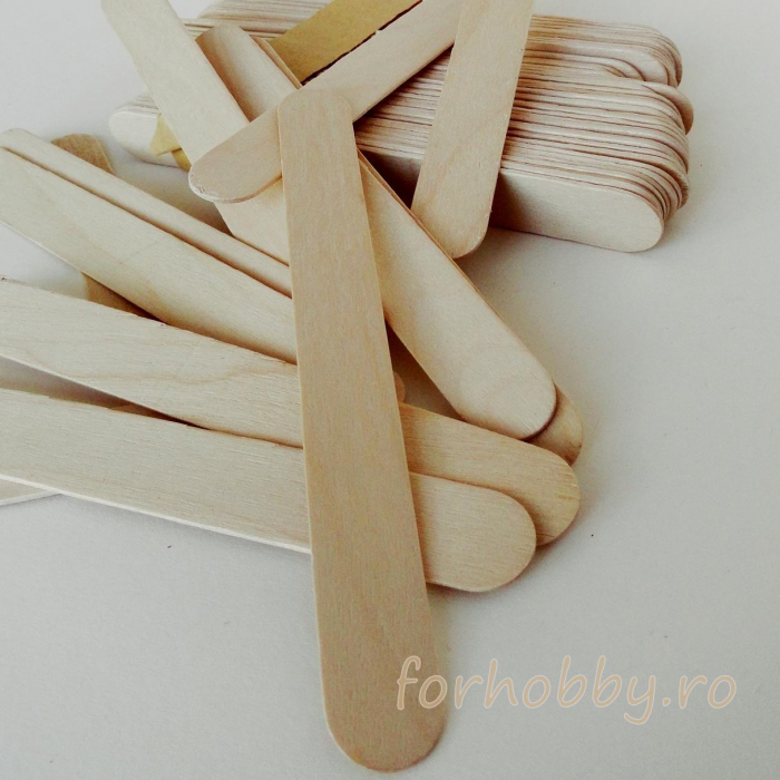 Set spatule lemn 15 x 1.8 x 0.2 cm (50 buc/set) 0