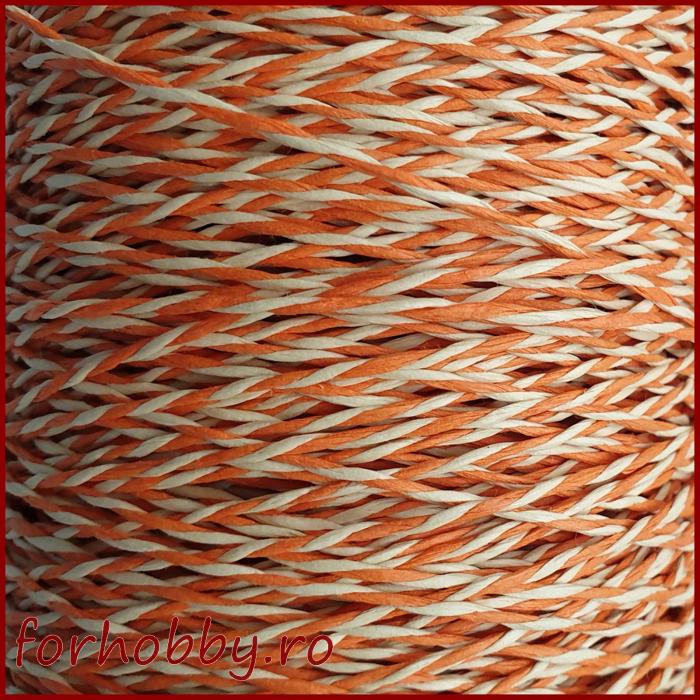 snur-rasucit-din-hartie-alb-cu-portocaliu 1