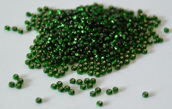Margele nisip Preciosa Ornela 10/0 - Verde miez argintiu 57060 1