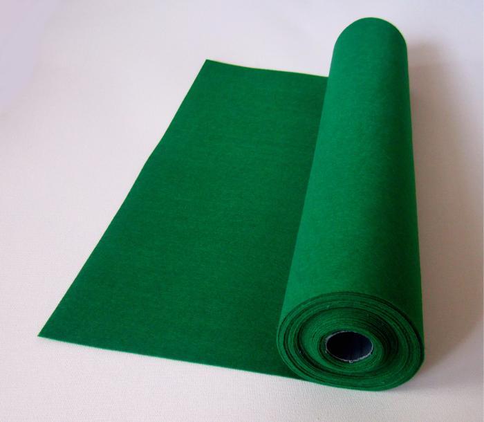 Rola fetru verde mediu 1mm grosime 0