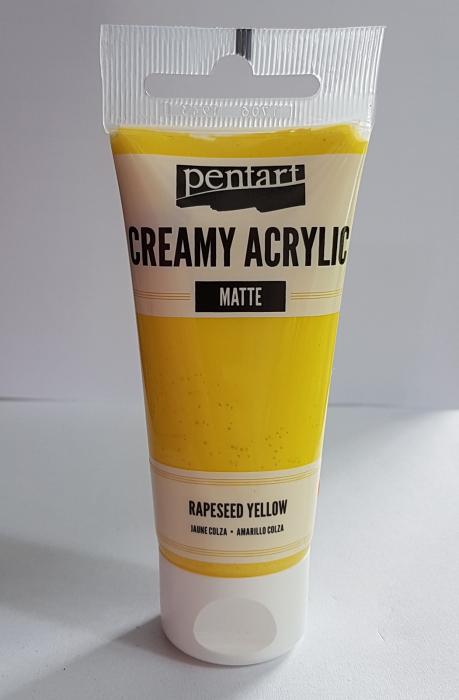 vopsea-acrilica-cremoasa-mata-60-ml-pentacolor-galben-rapita 2
