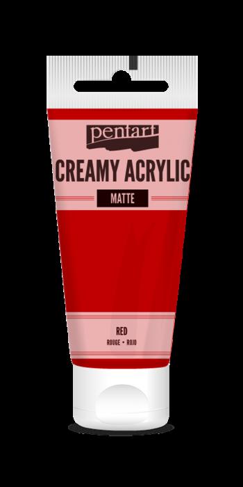 vopsea-acrilica-cremoasa-mata-60-ml-pentacolor-rosu 0