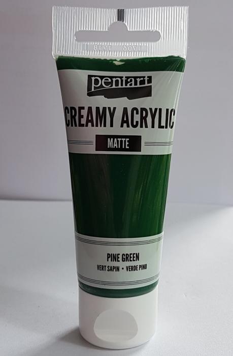 vopsea-acrilica-cremoasa-mata-60-ml-pentacolor-verde-brad 2