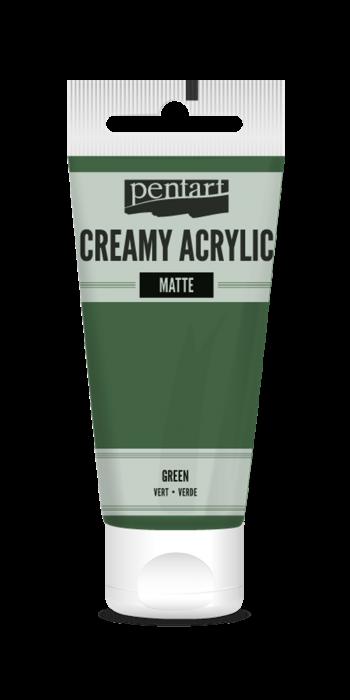 vopsea-acrilica-cremoasa-mata-60-ml-pentacolor-verde 0
