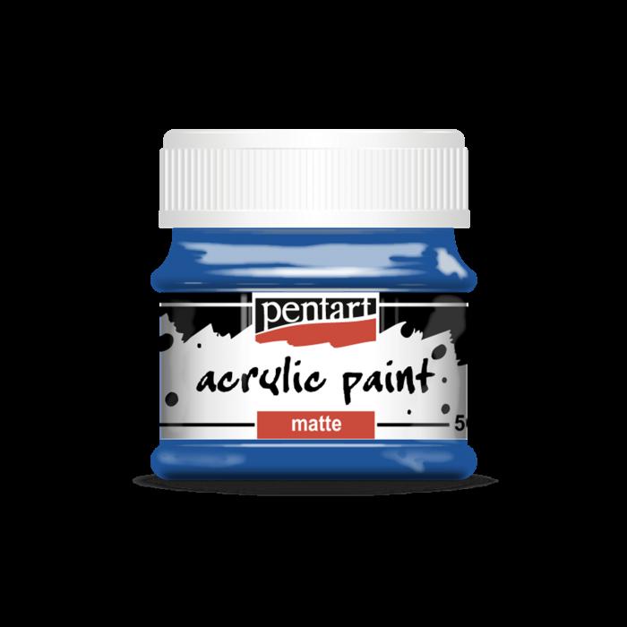 vopsea-acrilica-mata-50-ml-albastru 0