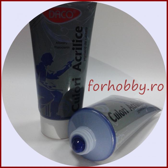 Vopsea acrilica 200ml Daco - Albastru ftalocianin 1