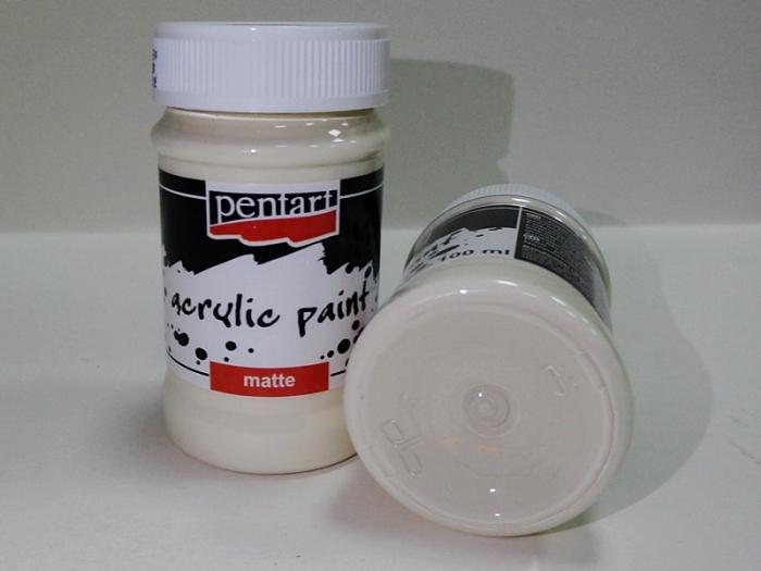 Vopsea acrilica ivory, 50 ml