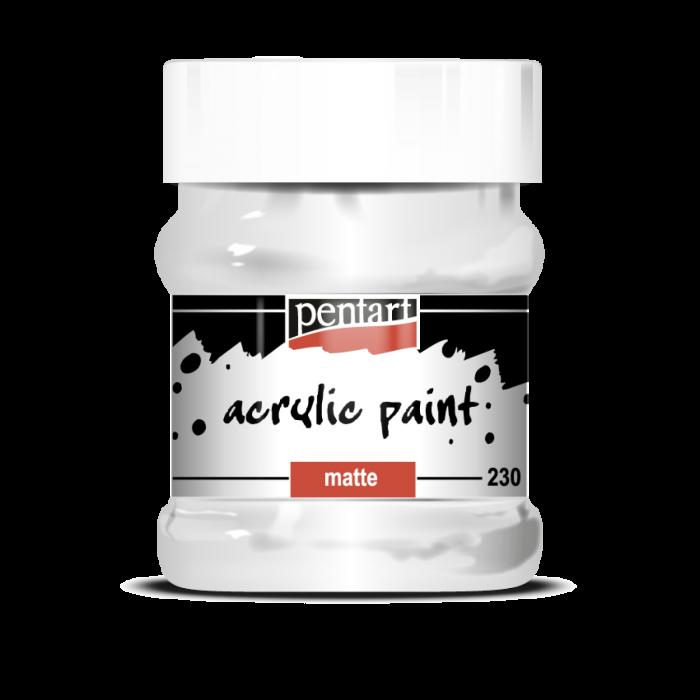 Vopsea Acrilica Mata alb (230 ml) 0