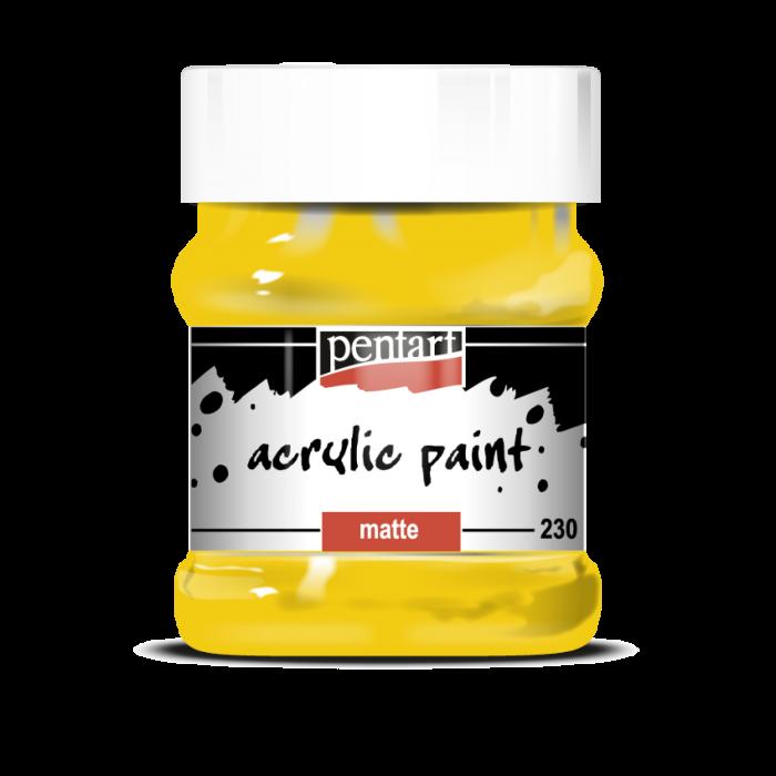 Vopsea Acrilica Mata galben soare (230 ml) 0