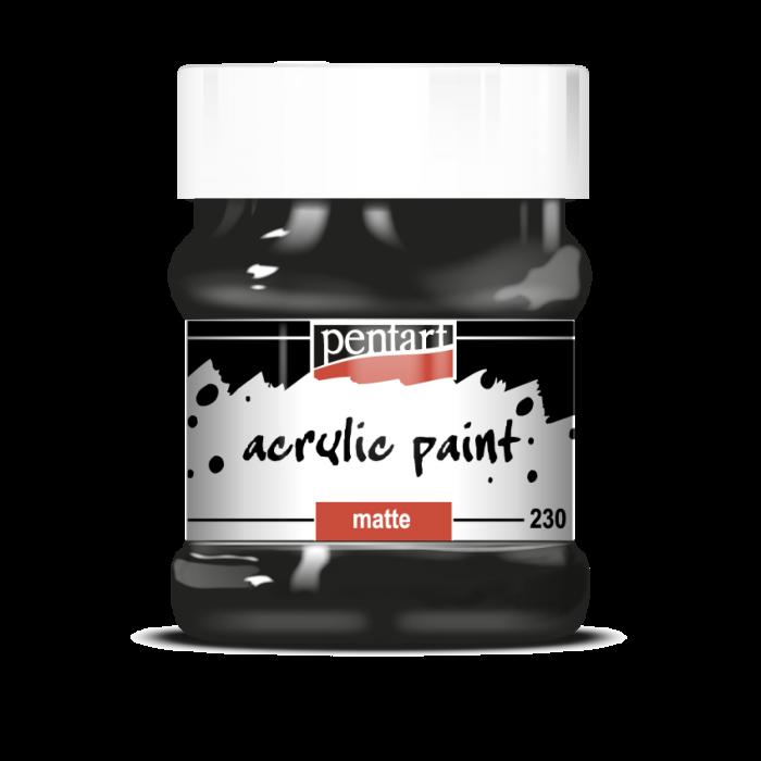 Vopsea Acrilica Mata negru (230 ml) 0