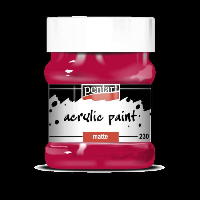 Vopsea acrilica mata 230 ml Rosu Carmin 0